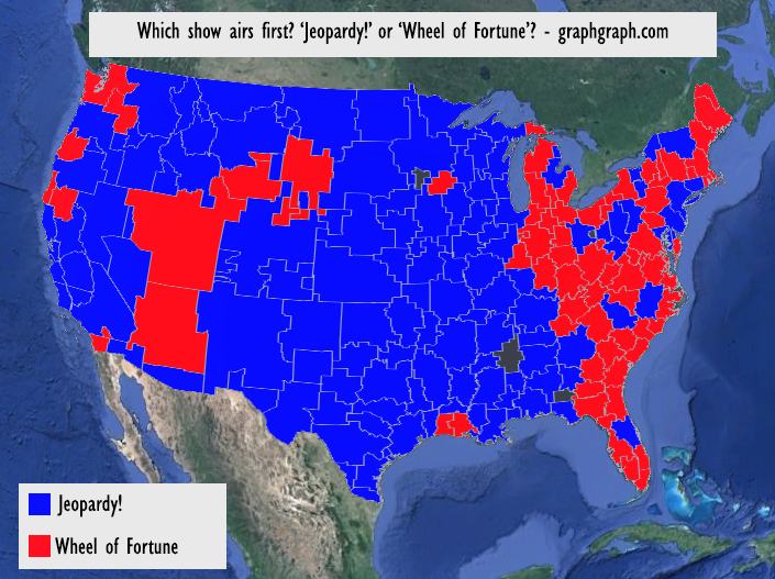 Jeopardy!\' and \'Wheel of Fortune\' Airtimes in Graphs and Maps ...